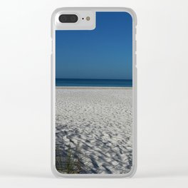 A Peaceful Day At A Marvelous Gulf Shore Beach Clear iPhone Case