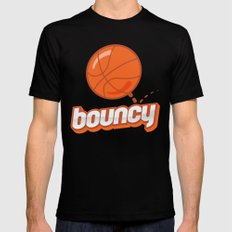 Bouncy Mens Fitted Tee MEDIUM Black