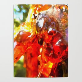 Apricot Resin Abstract Poster