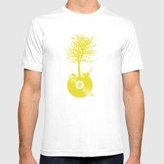 Vinyl Tree White MEDIUM Mens Fitted Tee