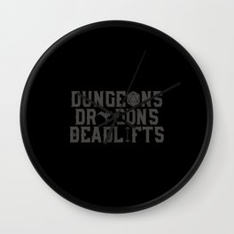 Dungeons & Dragons & Deadlifts Wall Clock