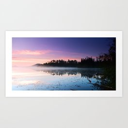 Colorful Summer Sunrise Lake in the Boundary Waters Art Print
