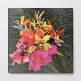 Hawaiian Luau Centerpiece of Tropical Flowers Metal Print