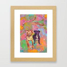 Bestie + Palette Framed Art Print