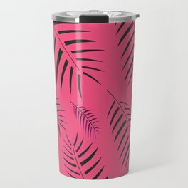 EXOTIC Artistic Leaves Pink Sugar Travel Mug