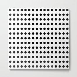 Popular Pattern - Polka Dot in monochrome ;) Metal Print