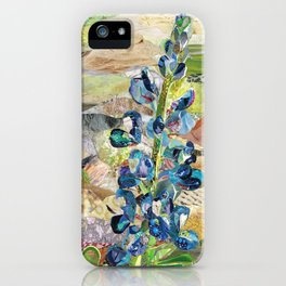 Texas Bluebonnet Collage iPhone Case