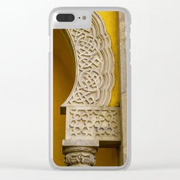 Yellow Arch Clear iPhone Case