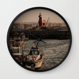 Light House:  Jeju Island, Korea Wall Clock