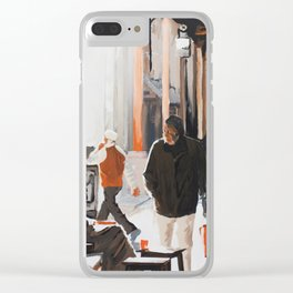 Orange Souk Clear iPhone Case