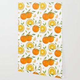 White Clementine Wallpaper