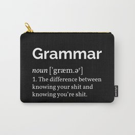 Grammar Definition Carry-All Pouch