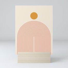 Abstraction_SUN_LINES_VISUAL_ART_Minimalism_001 Mini Art Print