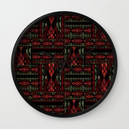 Patchwork seamless snake skin pattern texture Wall Clock