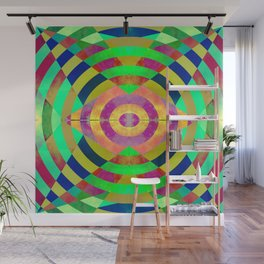 Circular perception Wall Mural
