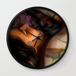 Resting in Mallow Wall Clock