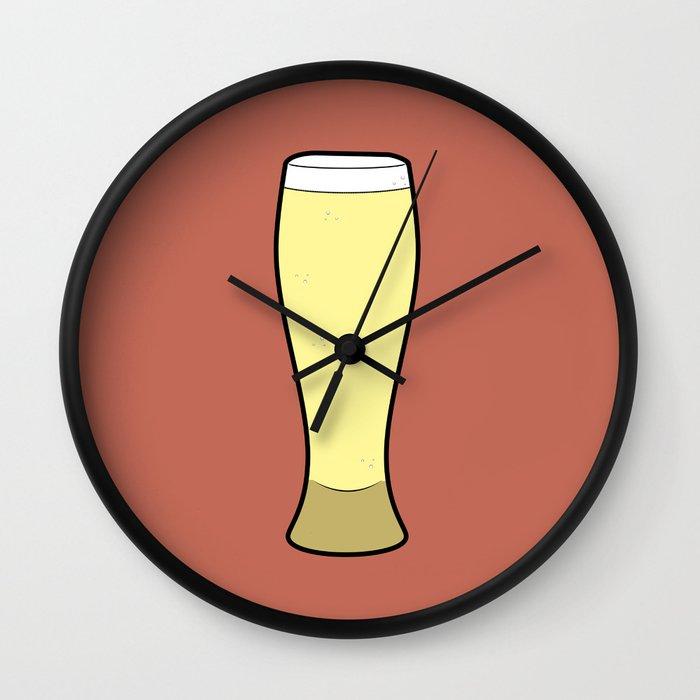 Beer Glasses (Weizen) Wall Clock
