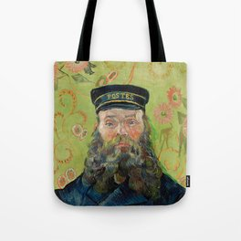 The Postman by Vincent van Gogh Tote Bag