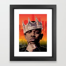 King Kendrick Framed Art Print