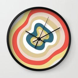 Ruby Canyon Stripes Wall Clock