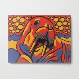 Benny the Walrus Metal Print