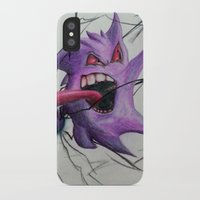 gengar iPhone & iPod Cases featuring Gengar by EzraTheMad