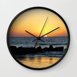 Folly Beach Sunrise Wall Clock