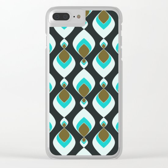 Retro pattern . Peacock Tail 2 . Clear iPhone Case