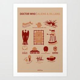 Doctor Who |Aliens & Villains Art Print
