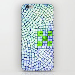 artisan 22.06.16 in lime & shades of blue iPhone Skin