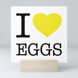 I LOVE EGGS Mini Art Print