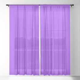 Bright Fluorescent Neon Purple Sheer Curtain