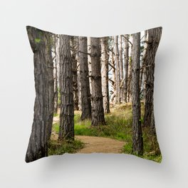 Path to the Sea (Point Lobos) Throw Pillow