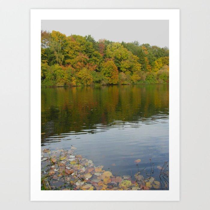Colourful Reflection Art Print