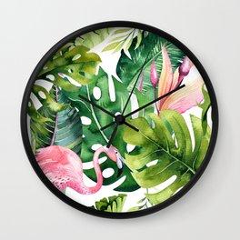 Tropical & flamingo collection Wall Clock