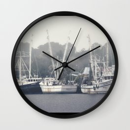 Shrimp Boats Wall Clock