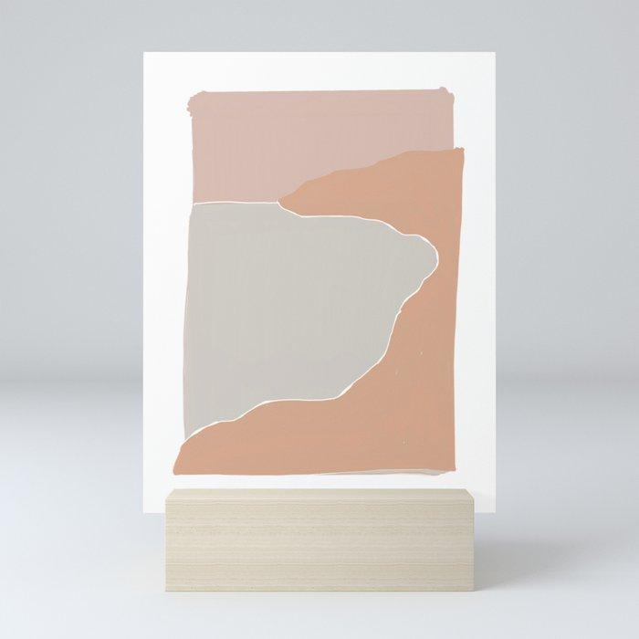 abstract sunset Mini Art Print
