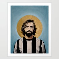 pirlo Art Prints featuring Andrea Pir_lo - Football Icon by David Diehl Football Art