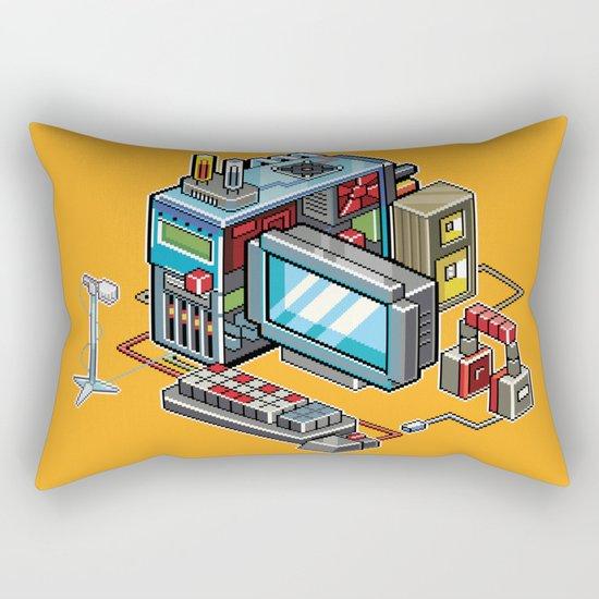 8bit computer Rectangular Pillow