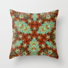 Scifi Rustic Geometric Throw Pillow
