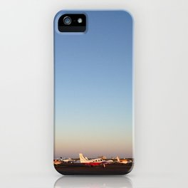 Sunset at the Airport iPhone Case