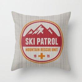 Ski Patrol Orange Throw Pillow