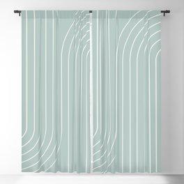 Minimal Line Curvature - Sage Blackout Curtain