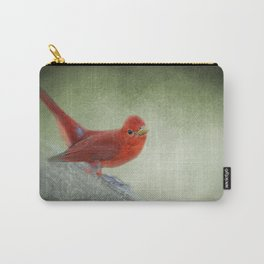 Song of the Summer Tanager 4 - Birds Carry-All Pouch