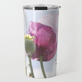 Poppy flower and seed pod Travel Mug