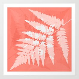 From the forest - light coral Art Print