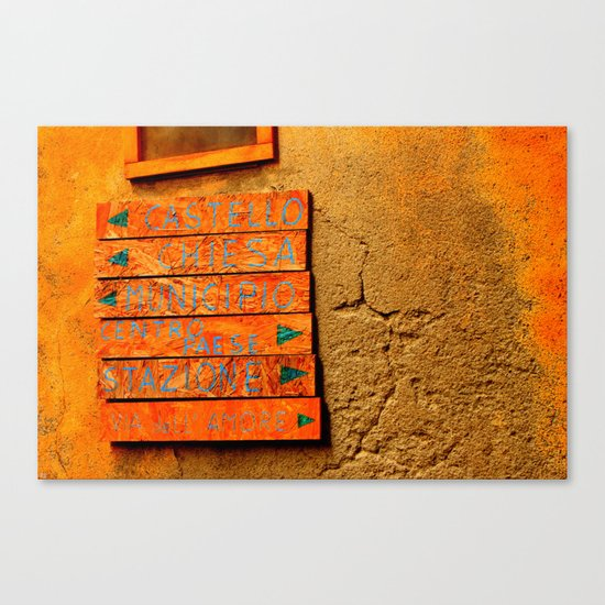 Point Me In The Right Direction Canvas Print