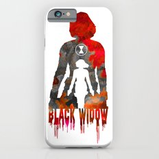 Black Widow Print Slim Case iPhone 6
