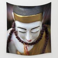 buddha Wall Tapestries featuring Buddha by Maria Heyens