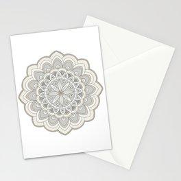 Beige Mandala Art Natural Colorings Stationery Cards